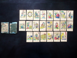 22 Carte Da Gioco Konig Und Bettler St. Giergl Pest Colorate A Mano Metà '800 - Altri