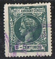 Sello 5 Cts 1905, ELOBEY, Annobon Y Corisco, Colonia Española,  Num 23 º - Elobey, Annobon & Corisco