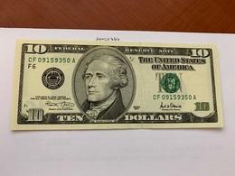 United States Hamilton $10 Uncirc. Banknote 2001 #5 - Nationale Valuta