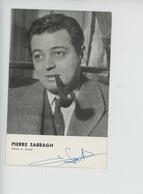 Pierre Sabbagh - Télé 58 Le Grand Hebdomadaire De La Télévison - Autographe (cp Vierge) - Célébrités
