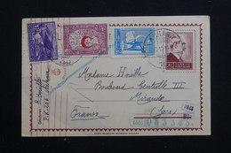 TURQUIE - Entier Postal + Compléments De Ankara Pour La France Avec Contrôle Postal Allemand En 1943 - L 60770 - Interi Postali