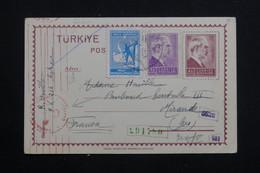 TURQUIE - Entier Postal + Compléments De Ankara Pour La France Avec Contrôle Postal Allemand En 1940 - L 60771 - Interi Postali