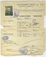 Gouvernement Belge. Laissez-passer. Vrijgeleide. Jules Dutremez, Industriel. Anvers. 1919. Pays-Bas. Hollande. - Documents Historiques
