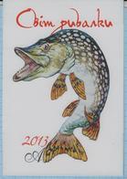 UKRAINE / Calendar / Advertising. Shop World Fisherman. Fish. 2013. - Calendarios