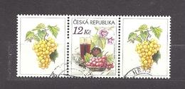 Czech Republic 2006 ⊙ Mi 462 Zf Sc 3296 Still Life With Grape, Glass Of Red Wine And Flowers.Tschechische Republik. C1 - Tchéquie