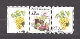 Czech Republic 2006 ⊙ Mi 462 Zf Sc 3296 Still Life With Grape, Glass Of Red Wine And Flowers.Tschechische Republik. C2 - Tchéquie