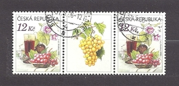 Czech Republic 2006 ⊙ Mi 462 Zf Sc 3296 Still Life With Grape, Glass Of Red Wine And Flowers.Tschechische Republik. C1 - Czech Republic