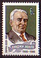 RUSSIA - UdSSR - 1981 - 1ans De La Mort De Longo  - Mi 5080 - 6 Kop ** - 1923-1991 URSS