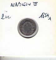 France. Napoléon III. 20 Centimes 1854 A - E. 20 Céntimos