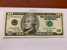 United States Hamilton $10 Uncirc. Banknote 2001 #6 - Nationale Valuta