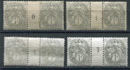 FRANCE N°107  * PAIRE AVEC MILLESIME 0 (1900), 1 (1901), 4 (1904), 7 (1907) - Millesimi