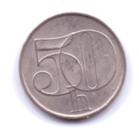 CZECHOSLOVAKIA 1991: 50 Haleru, KM 144 - Tschechoslowakei