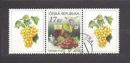 Czech Republic 2008 ⊙ Mi 544 Zf Sc 3373 Still Life With Grape And Wine. Tschechische Republik. C1 - Tchéquie