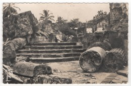 Martinique -  Les Ruines De Saint-Pierre. Excavated Ruin Of The Old Fort Church St-Pierre. CP Noir Et Blanc. Edit. SAEC - Martinique
