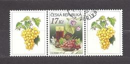 Czech Republic 2008 ⊙ Mi 544 Zf Sc 3373 Still Life With Grape And Wine. Tschechische Republik. C2 - Tchéquie