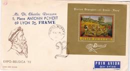 ROUMANIE / JOLIE LETTRE 1972 / EXPO BELGICA 72 AVEC BLOC - Covers & Documents