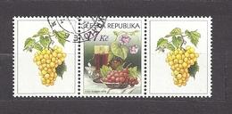 Czech Republic 2008 ⊙ Mi 544 Zf Sc 3373 Still Life With Grape And Wine. Tschechische Republik. C3 - Tchéquie