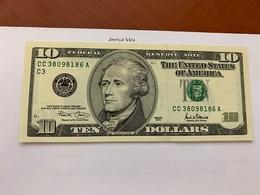 United States Hamilton $10 Uncirc. Banknote 2001 #7 - Nationale Valuta