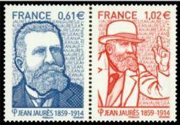 "FR YT 4869 & 4870 Paire "" Jean Jaurès "" 2014 Neuf** - Nuovi"