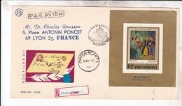 ROUMANIE / JOLIE LETTRE 1973 /  SOCFILEX III/ AVEC BLOC - Covers & Documents