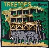 CHASSE / RESERVE / ELEPHANTS  / TRES BEL ECUSSON KENYA TREETOPS - Ecussons Tissu