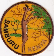 CHASSE / RESERVE / ANTILOPE   / TRES BEL ECUSSON KENYA SAMBURU - Ecussons Tissu