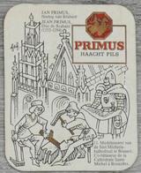 Sous-bock PRIMUS Haacht Pils Jan Primus Hertog Van Brabant Jean Primus Duc De Brabant Bierviltje Coaster (CX) - Beer Mats