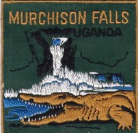 CHASSE / RESERVE / CROCODILE / TRES BEL ECUSSON / OUGANDA / MURCHISON FALLS - Ecussons Tissu
