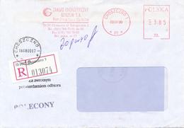 POLEN / POLAND  -  CHOSZCZNO  -  2000   -  Freistempel  3.85 Zl    -  R-Brief Nach Drawno - Machine Stamps (ATM)