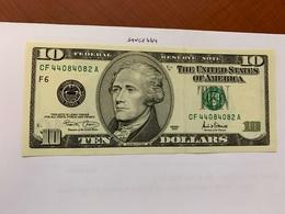 United States Hamilton $10 Uncirc. Banknote 2001 #8 - Nationale Valuta