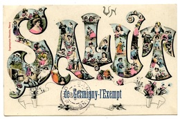 GERMIGNY-l'EXEMPT - Un Salut ... - Peu Courante - Voir Scan - Frankreich