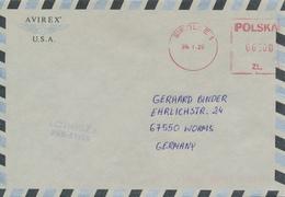 POLEN / POLAND  -  SIEDLCE  -  1995  -  Freistempel  6500 Zl    -  Brief Nach Worms - Machine Stamps (ATM)