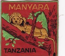 CHASSE / RESERVE / LION  / TRES BEL ECUSSON / TANZANIE / MANYARA - Ecussons Tissu