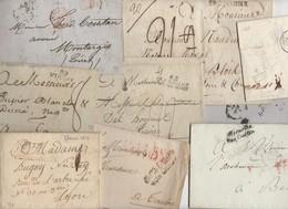 Très Intéressant Lot De + De 80 Marques Postales à Trier à Signaler Quelque Marques Rares, PP, Franchises Etc - 1801-1848: Précurseurs XIX