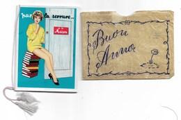 94311) CALENDARIETTO DEL 1960 PAR LA SERRURE-LA MAISON- CON BUSTINA - Calendarios