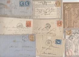 Très Intéressant Lot De + De 50 Lettres Classiques De France: Empire, Ceres, Quelques Couleurs Et Paires - 1849-1876: Période Classique