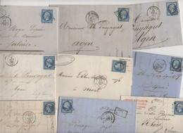 Très Intéressant Lot De + De 50 Lettres Classiques De France: Avec 20c Empire Non Dentelés Pour Recherches Variétés, Obl - 1849-1876: Période Classique