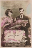 1er Avril  Couple - 1° Aprile (pesce Di Aprile)