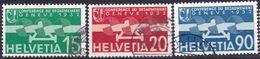 """Schweiz Suisse 1932: """"Abrüstung / Désarmement"""" Zu Flug 16-18 Mi 256-258 Yv PA16-18 Mit Eck-o THUN (Zu CHF 75.00) - Usados"""