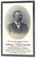 DOODSPRENTJE EMILE HOUTHAVE, ROLLEGEM KAPELLE 1851 - BRUGGE 1914 - Images Religieuses