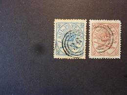 DANEMARK, Année 1864, YT N° 11 Et 13 Oblitéré  (cote 74 EUR) - Used Stamps