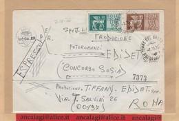 St.Post.995 - REPUBBLICA 1976 - Lettera Exp.1°p. Affran. In Tariffa Con L.150+300 Espresso - - 1971-80: Marcophilia