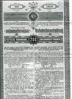 THEILSCHULDVERSCHREIBUNG Zur Temes Bega Thal Wasserregulirung - Non Classés