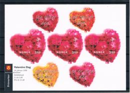Norwegen 1998 Valentinstag Mi.Nr. 1277 Folienblatt ** - Ongebruikt