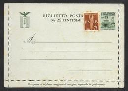 R.S.I. REPUBBLICA SOCIALE BIGLIETTO POSTALE N° 5 - 4. 1944-45 Repubblica Sociale