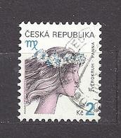 Czech Republic 2000 ⊙ Mi 257 Yv 246 Sc 3070 Zodiac Virgo, Jungfrau. Tschechische Republik. C6 - Tchéquie