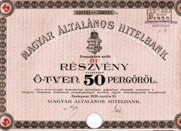 MAGYAR ÁLTALÁNOS HITELBANK - Bank & Insurance