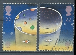 Grande-Bretagne YT N°1543-1544 Europa 1991 L'Europe Et L'espace Oblitéré ° - Gebraucht