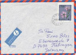 POLEN / POLAND  -  CHELM -  1990  -  Prachtnelke  -   Brief Nach Tübingen - 1944-.... Republik