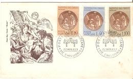 TIMBRE  VATICAN FDC ENVELOPPE 1° JOUR NATIVITE DU CHRIST 22/11/1963 - Covers & Documents